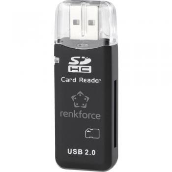 Zunanji bralec spominske kartice USB 2.0 Renkforce CR01e K črn CR038A