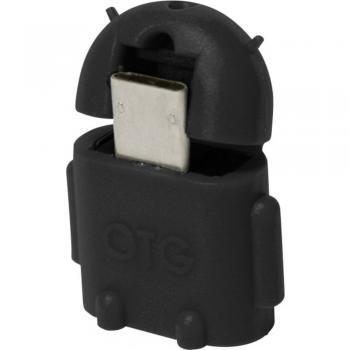USB 2.0 adapter [1x USB 2.0 vtič Micro-B - 1x USB 2.0 vtičnica A] črn z OTG-funkcijo LogiLink