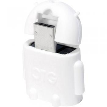 USB 2.0 adapter [1x USB 2.0 vtič Micro-B - 1x USB 2.0 vtičnica A] bel z OTG-funkcijo LogiLink