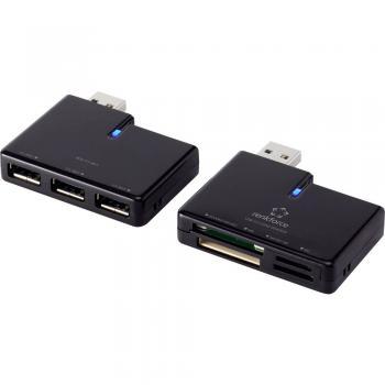 Zunanji bralnik pomnilniških kartic USB-C™ Renkforce črne barve