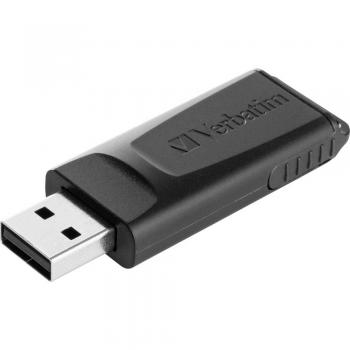 USB-ključ 64 GB Verbatim Slider črn 98698 USB 2.0