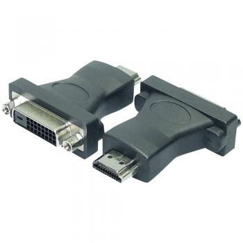 DVI/HDMI adapter LogiLink [1x DVI-vtičnica 24+1pol. <=> 1x HDMI-vtič] črn