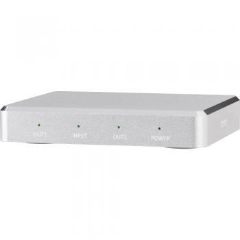 HDMI razdelilnik SpeaKa Professional, 2-kanalni, aluminjasto ohišje, Ultra HD izhod 3842 x 2160 pikslov