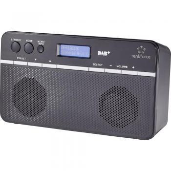 DAB+ Radio renkforce NE-6210 namizni, črna