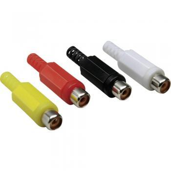 Cinch konektor, ravna vtičnica, št. polov: 2 črne barve BKL Electronic 072211/T 1 kos