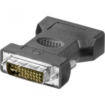 DVI/VGA adapter Goobay [1x DVI-vtič 24+5pol. <=> 1x VGA-vtičnica] črn