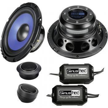 Komplet 2-sistemskih vgradnih zvočnikov za avtomobile 300 W Sinustec ST-165