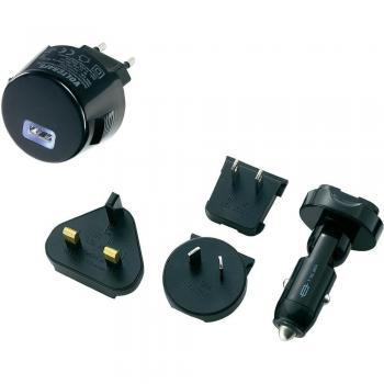 USB napajalnik 5-delni komplet za avtomobile z vtičnico, VOLTCRAFT CPUC-1000