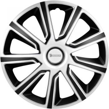 Okrasni pokrovi za platišča Michelin R15 srebrna-črna 4 kosi