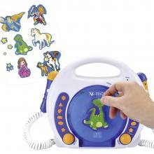 X4-Tech Bobby Joey MP3, CD-otroški predvajalnik, SD-kartica, USB, bela, modra, CD, MP3 701353 X4 Tech