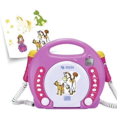 X4-Tech Bobby Joey MP3, CD-predvajalniki za otroke, SD kartica, USB, roza, beli CD, MP3 701354