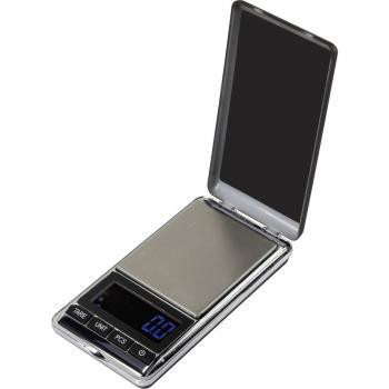 Žepna tehtnica Basetech SJS-60007 (maks.) 500 g točnost 0.1 g, baterijski pogon, srebrna