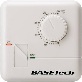 Sobni termostat, površinska montaža, dnevni program od 5 do 30 °C Basetech MH-555C