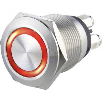 Tipka za zvonec 1-delna Heidemann 70530 iz nerjavečega jekla 24 V/0,5 A