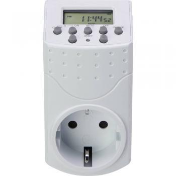Digitalna časovna stikalna ura za vtičnico, tedenski program Basetech 1800 W IP20 funkcija odštevanja