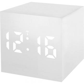 Brezžična budilka Bresser Optik 8020402GYEWHI, bela LED, bele barve