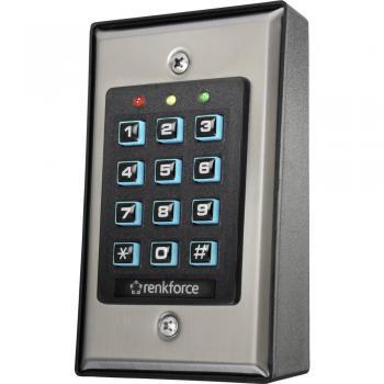 Renkforce 1582597 kodna ključavnica, površinska montaža, z osvetljeno tipkovnico