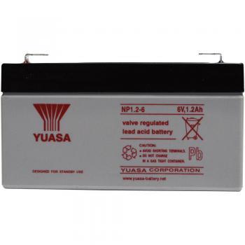 Svinčev akumulator 6 V 1.2 Ah Yuasa NP1.2-6 svinčevo-koprenast (AGM) 97 x 55 x 25 mm ploščati vtič 4.8 mm brez vzdrževanja