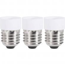 Adapter za vznožek žarnice, 97029c81e, E27 na GU10, komplet 3 kosov, bele barve Renkforce