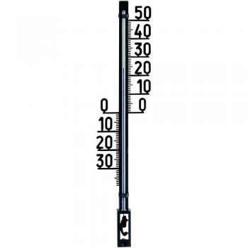 Stenski termometer TFA 12.6003.01.90 črne barve