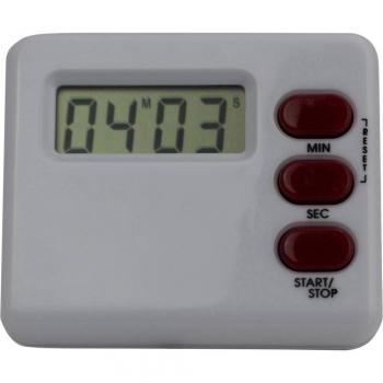 Digitalni časomer (Š x V x G) 60 x 40 x 15 mm bele barve