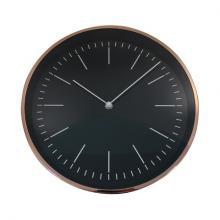 Stenska ura bakrena/črna premer 30cm + baterija
