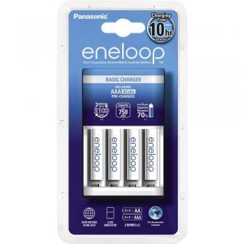 Panasonic Vtična polnilna naprava BQ-CC18 vklj. 4 eneloop Micro-akumulatorji