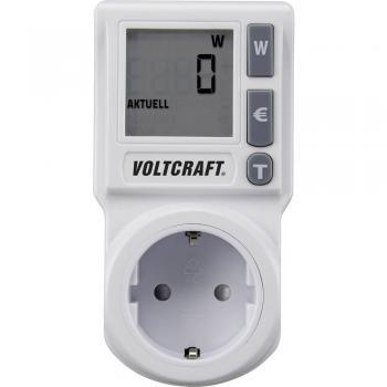 Merilnik stroškov energije VOLTCRAFT EM 1000BASIC DE integrirano otroško varovalo, nastavljiva tarifa el.energije, TRMS, napoved