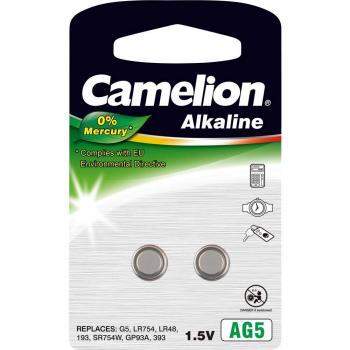 Gumbna baterija LR 48 alkalij-mangan Camelion AG5 66 mAh 1.5 V 2 kosa