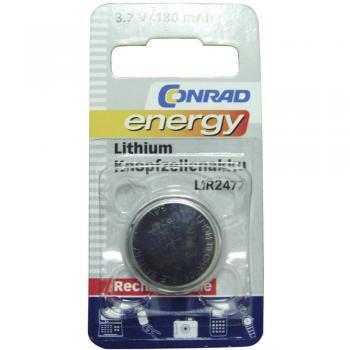 Gumbni akumulator LIR 2477 litijev Conrad energy LIR2477 180 mAh 3.6 V, 1 kos