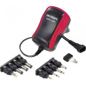 Vtični napajalnik, nastavljiv VOLTCRAFT USPS-600, rdeč