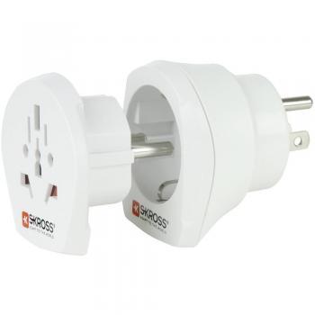 Potovalni adapter Skross 1.500204 ZDA/varnostni kontakt, bele barve