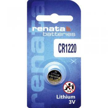 Gumbna baterija CR 1220 litijeva Renata CR1220 40 mAh 3 V, 1 kos