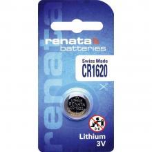 Gumbna baterija CR 1620 litijeva Renata CR1620 68 mAh 3 V, 1 kos