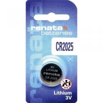 Gumbna baterija CR 2025 litijeva Renata CR2025 165 mAh 3 V, 1 kos