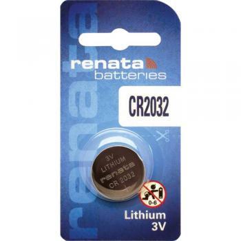 Gumbna baterija CR 2032 litijeva Renata CR2032 225 mAh 3 V, 1 kos