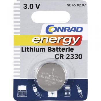 Gumbna baterija CR 2330 litijeva Conrad energy CR2330 260 mAh 3 V, 1 kos