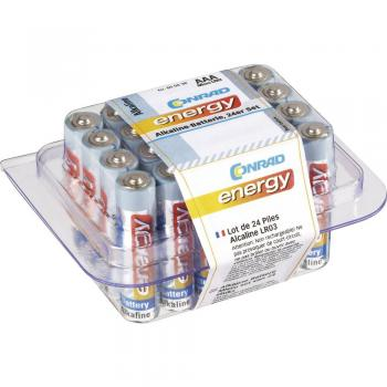 Micro baterija (AAA) alkalno-manganova Conrad energy LR03 1.5 V 24 kosov, KOMPLET