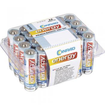 Mignon baterija (AA) alkalno-manganova Conrad energy LR06 1.5 V 24 kosov, KOMPLET