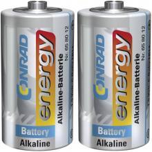 Baby (C)-baterija alkalno-manganova Conrad energy LR14 1.5 V 2 kosa