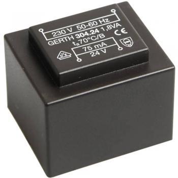 EI 30/15,5 Transformator za tiskana vezja, primarni: 230 V sekundarni: 2 x 12 V 75 mA 1.8 VA Gerth