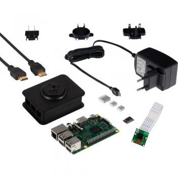 Komplet s kamero Raspberry Pi® 3, model B, 1 GB, Noobs, vklj. napajalnik, prog. opremo, IP-kamero