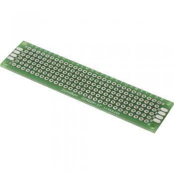 Eksperimentalna plošča za tiskano vezje, epoksid (D x Š) 80 mm x 20 mm 35 µm raster 2.54 mm