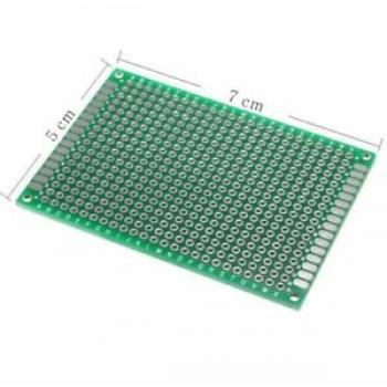 Eksperimentalna plošča za tiskano vezje, epoksid (D x Š) 70 mm x 50 mm 35 µm raster 2.54 mm