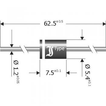 Schottky pregradna usmerniška dioda Diotec SB840 DO-201 40 V 8 A