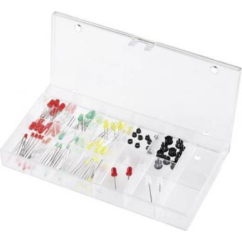 Asortima LED diod, rdeča, zelena, rumena