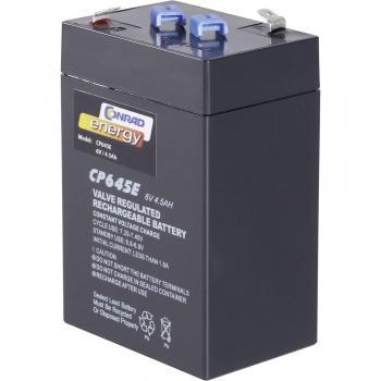 Svinčev akumulator 6 V 4.5 Ah Conrad energy CE6V/4,5Ah 250116 svinčevo-koprenast (AGM)