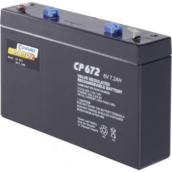Svinčev akumulator 6 V 7 Ah Conrad energy CE6V/7Ah 250129 svinčevo-koprenast (AGM)