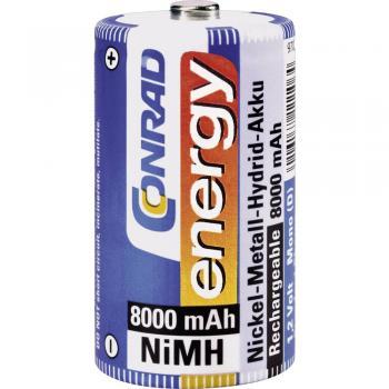 Akumulatorska baterija tipa D (Mono) NiMH Conrad energy HR20 8000 mAh 1.2 V