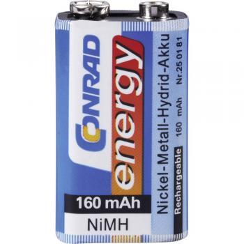 9 V Block akumulator NiMH Conrad energy 6LR61 160 mAh 9 V 1 kos